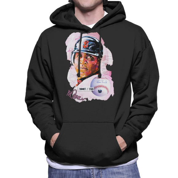 Sidney Maurer Original Portrait Of Giants Baseball Player Barry Bonds Men's Hooded Sweatshirt
