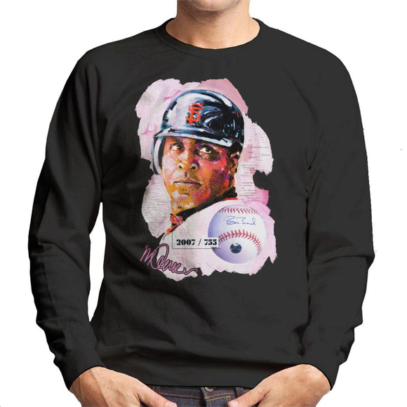 Sidney Maurer Original Portrait Of Giants Baseball Player Barry Bonds Men's Sweatshirt