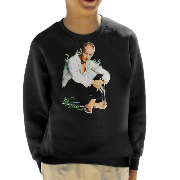 Sidney Maurer Original Portrait Of David Beckham Shaved Head Kid's Sweatshirt