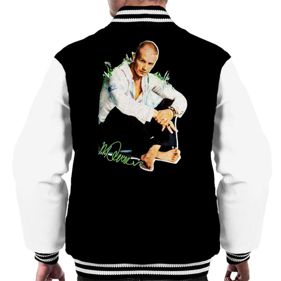 Sidney Maurer Original Portrait Of David Beckham Shaved Head Men's Varsity Jacket