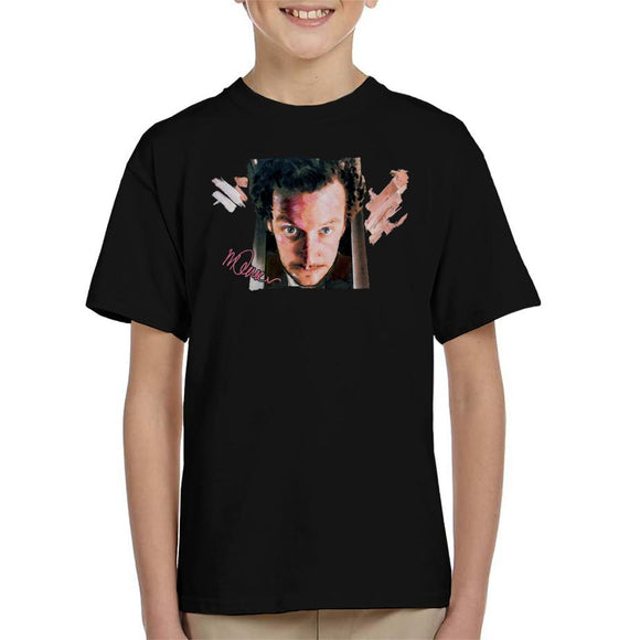 Sidney Maurer Original Portrait Of Daniel Stern As Wet Bandit Harry Home Alone Kid's T-Shirt