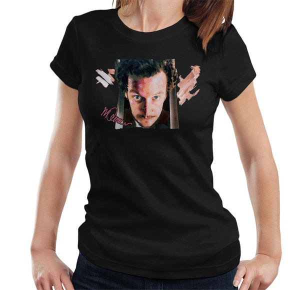 Sidney Maurer Original Portrait Of Daniel Stern As Wet Bandit Harry Home Alone Women's T-Shirt