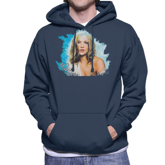 Sidney Maurer Original Portrait Of Kate Moss Pastel Blue Men's Hooded Sweatshirt