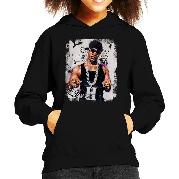 Sidney Maurer Original Portrait Of Young Jeezy Hustle Chain Kid's Hooded Sweatshirt