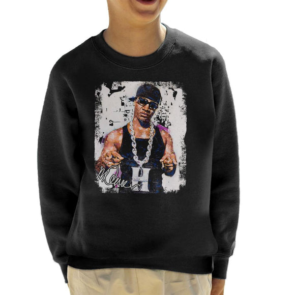 Sidney Maurer Original Portrait Of Young Jeezy Hustle Chain Kid's Sweatshirt