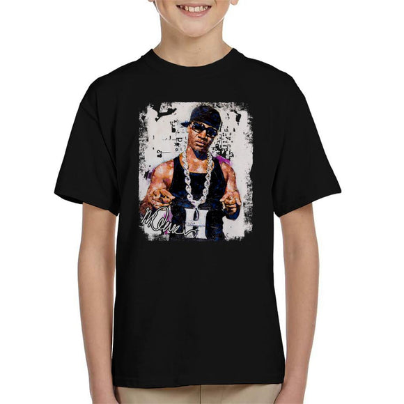 Sidney Maurer Original Portrait Of Young Jeezy Hustle Chain Kid's T-Shirt