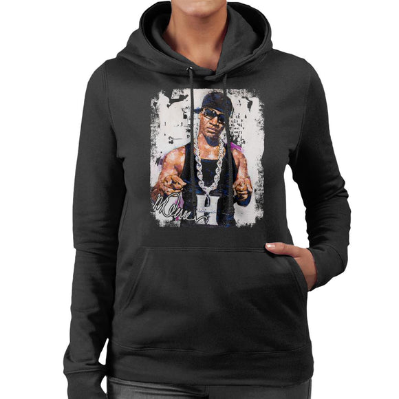 Sidney Maurer Original Portrait Of Young Jeezy Hustle Chain Women's Hooded Sweatshirt