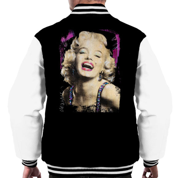 Sidney Maurer Original Portrait Of Marilyn Monroe Pink Lips Men's Varsity Jacket