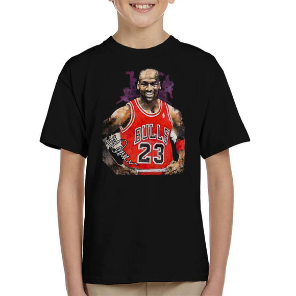Sidney Maurer Original Portrait Of Michael Jordan Chicago Bulls Vest Kid's T-Shirt