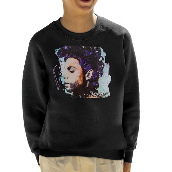 Sidney Maurer Original Portrait Of Prince Side Profile Kid's Sweatshirt