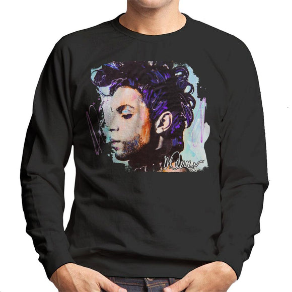 Sidney Maurer Original Portrait Of Prince Side Profile Men's Sweatshirt