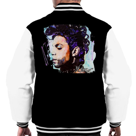 Sidney Maurer Original Portrait Of Prince Side Profile Men's Varsity Jacket