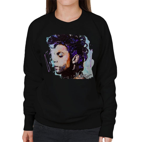 Sidney Maurer Original Portrait Of Prince Side Profile Women's Sweatshirt