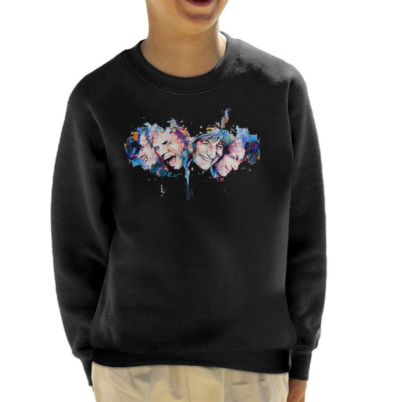 Sidney Maurer Original Portrait Of The Rolling Stones Headshots Kid's Sweatshirt
