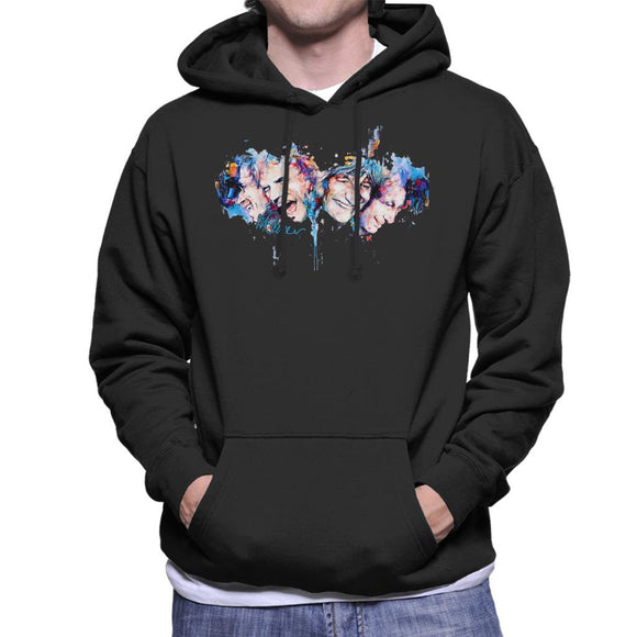 Sidney Maurer Original Portrait Of The Rolling Stones Headshots Men's Hooded Sweatshirt