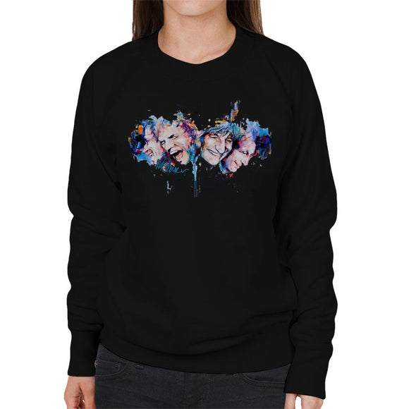 Sidney Maurer Original Portrait Of The Rolling Stones Headshots Women's Sweatshirt