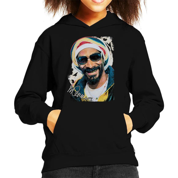 Sidney Maurer Original Portrait Of Snoop Dogg Gold Grill Kid's Hooded Sweatshirt
