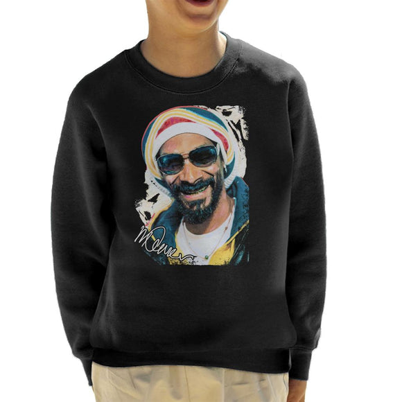 Sidney Maurer Original Portrait Of Snoop Dogg Gold Grill Kid's Sweatshirt