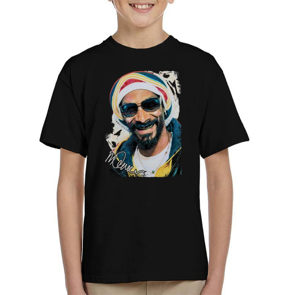 Sidney Maurer Original Portrait Of Snoop Dogg Gold Grill Kid's T-Shirt