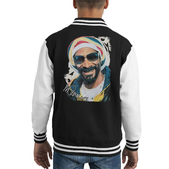 Sidney Maurer Original Portrait Of Snoop Dogg Gold Grill Kid's Varsity Jacket