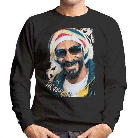 Sidney Maurer Original Portrait Of Snoop Dogg Gold Grill Men's Sweatshirt