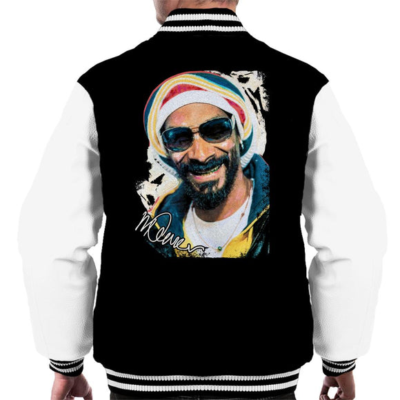 Sidney Maurer Original Portrait Of Snoop Dogg Gold Grill Men's Varsity Jacket