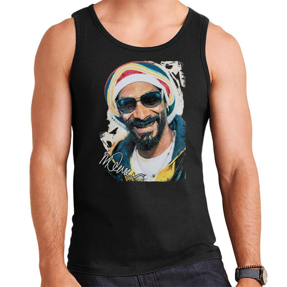 Sidney Maurer Original Portrait Of Snoop Dogg Gold Grill Men's Vest