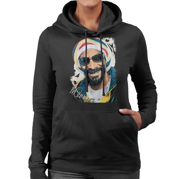 Sidney Maurer Original Portrait Of Snoop Dogg Gold Grill Women's Hooded Sweatshirt