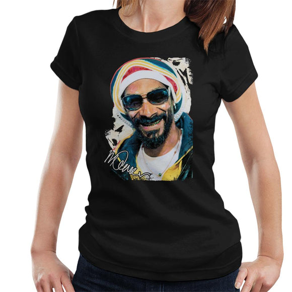 Sidney Maurer Original Portrait Of Snoop Dogg Gold Grill Women's T-Shirt