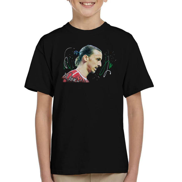 Sidney Maurer Original Portrait Of Zlatan Ibrahimovic Kid's T-Shirt
