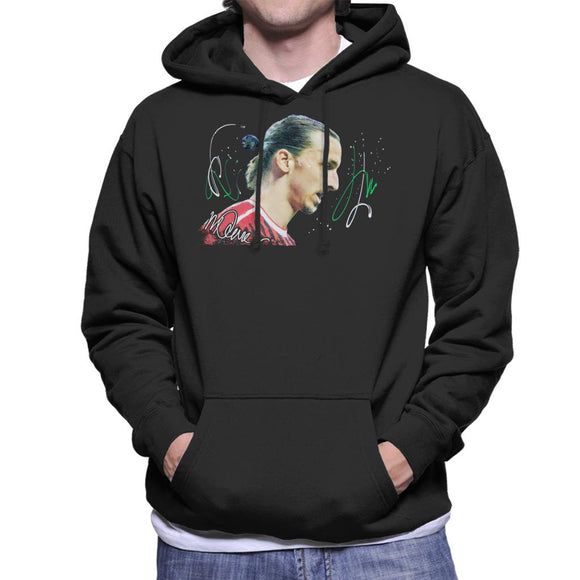 Sidney Maurer Original Portrait Of Zlatan Ibrahimovic Men's Hooded Sweatshirt