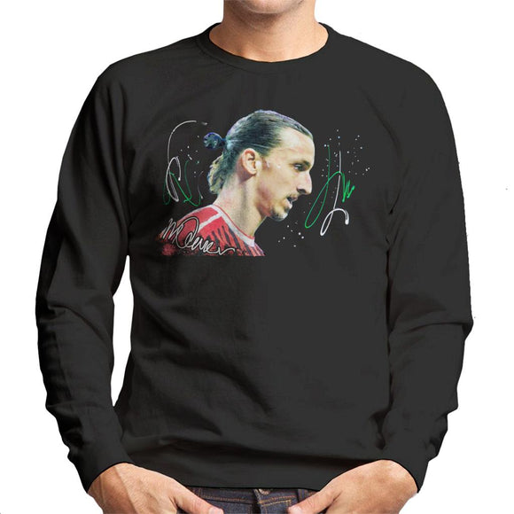 Sidney Maurer Original Portrait Of Zlatan Ibrahimovic Men's Sweatshirt