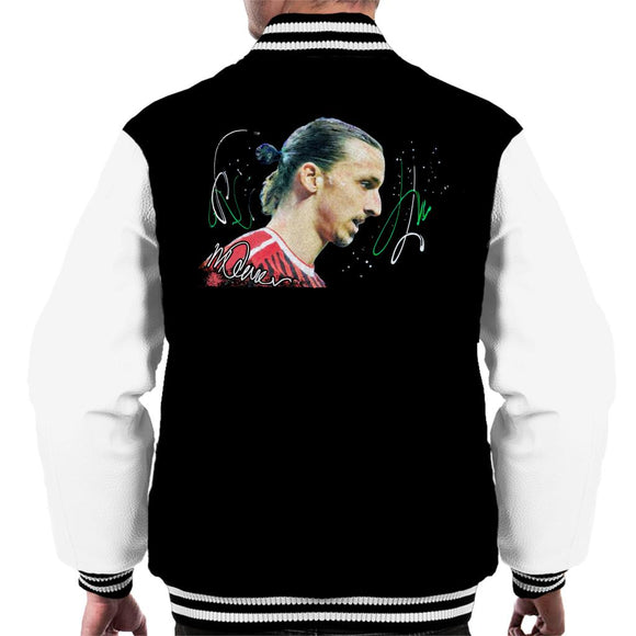 Sidney Maurer Original Portrait Of Zlatan Ibrahimovic Men's Varsity Jacket