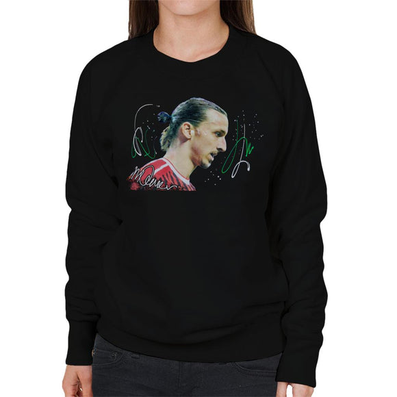 Sidney Maurer Original Portrait Of Zlatan Ibrahimovic Women's Sweatshirt
