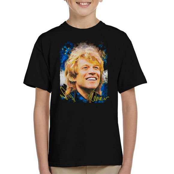 Sidney Maurer Original Portrait Of Jon Bon Jovi Smile Kid's T-Shirt