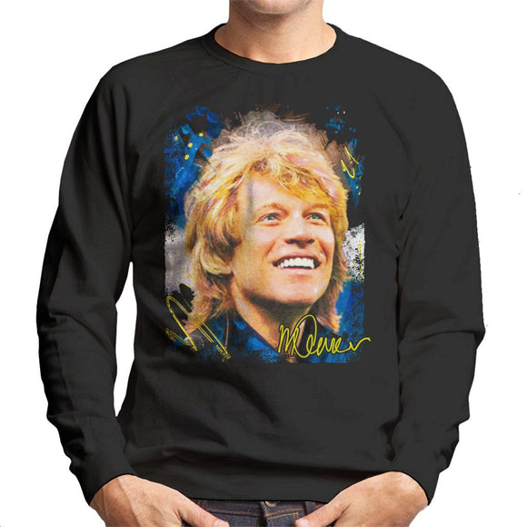 Sidney Maurer Original Portrait Of Jon Bon Jovi Smile Men's Sweatshirt
