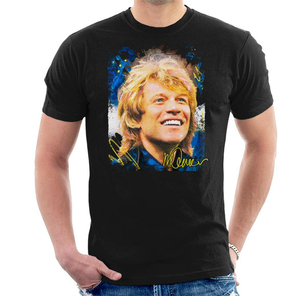 Sidney Maurer Original Portrait Of Jon Bon Jovi Smile Men's T-Shirt