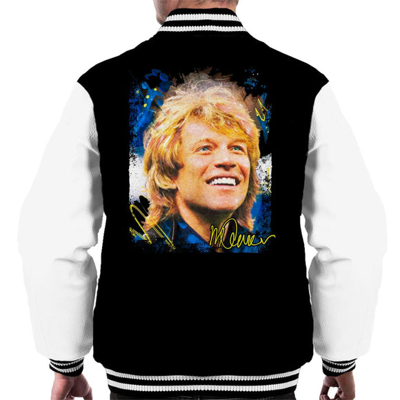 Sidney Maurer Original Portrait Of Jon Bon Jovi Smile Men's Varsity Jacket