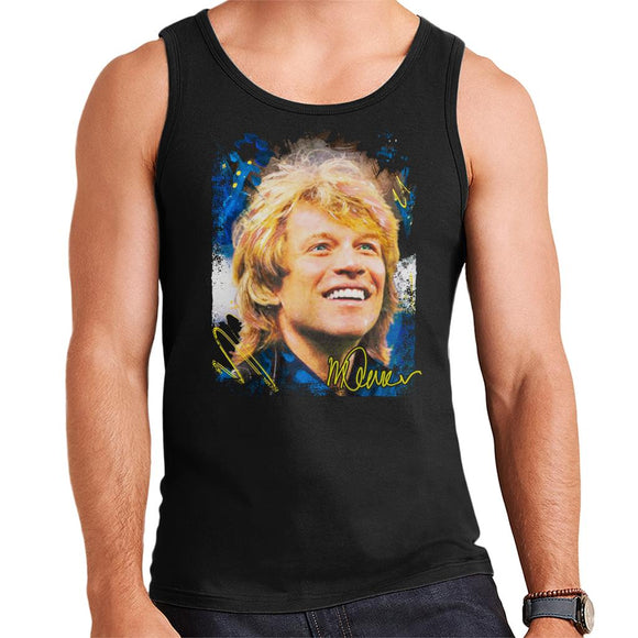 Sidney Maurer Original Portrait Of Jon Bon Jovi Smile Men's Vest
