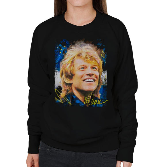 Sidney Maurer Original Portrait Of Jon Bon Jovi Smile Women's Sweatshirt
