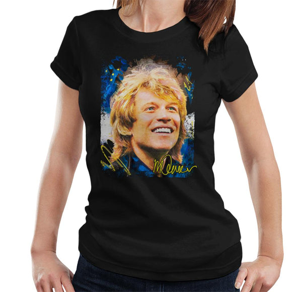 Sidney Maurer Original Portrait Of Jon Bon Jovi Smile Women's T-Shirt