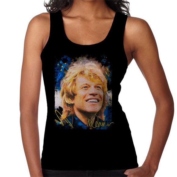 Sidney Maurer Original Portrait Of Jon Bon Jovi Smile Women's Vest