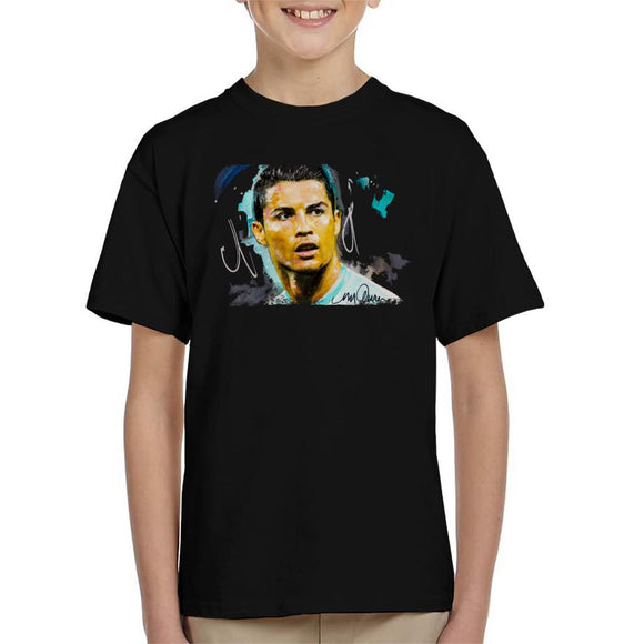 Sidney Maurer Original Portrait Of Footballer Cristiano Ronaldo Kid's T-Shirt
