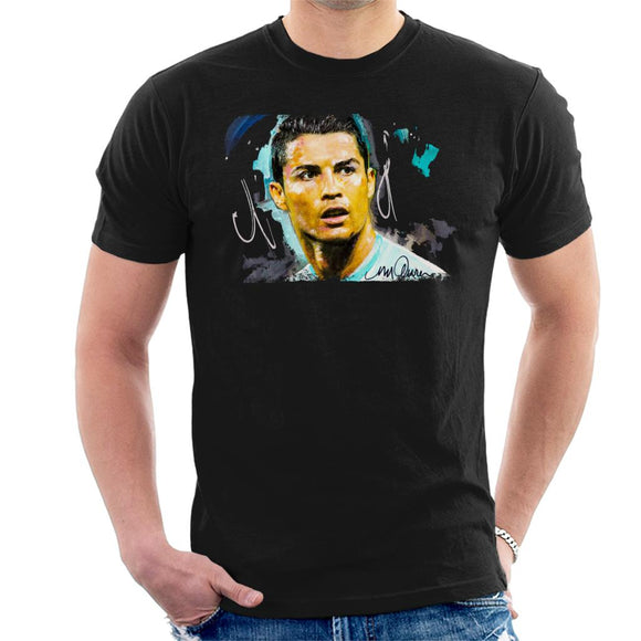 Sidney Maurer Original Portrait Of Footballer Cristiano Ronaldo Men's T-Shirt