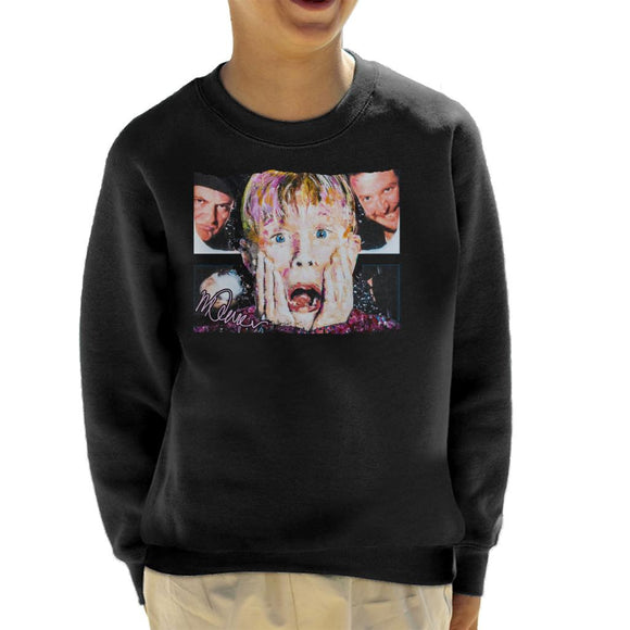 Sidney Maurer Original Portrait Of Macaulay Culkin Home Alone Kid's Sweatshirt