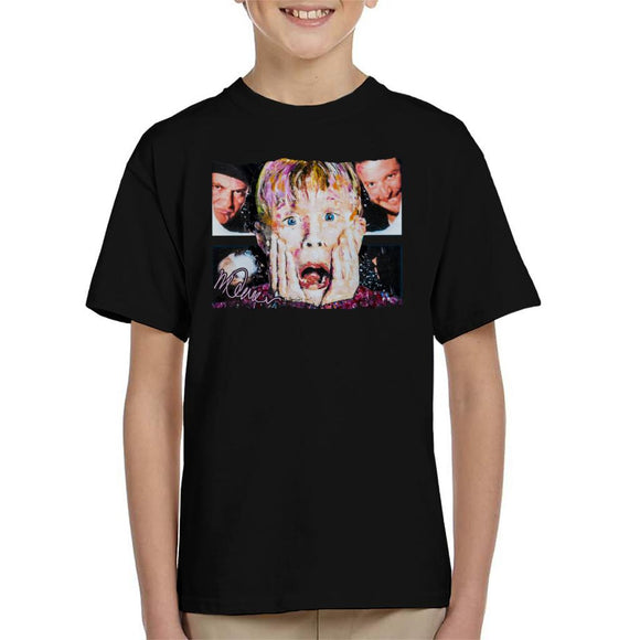 Sidney Maurer Original Portrait Of Macaulay Culkin Home Alone Kid's T-Shirt