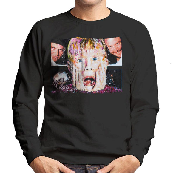 Sidney Maurer Original Portrait Of Macaulay Culkin Home Alone Men's Sweatshirt