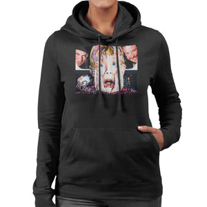 Sidney Maurer Original Portrait Of Macaulay Culkin Home Alone Women's Hooded Sweatshirt