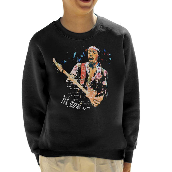 Sidney Maurer Original Portrait Of Guitarist Jimi Hendrix Kid's Sweatshirt