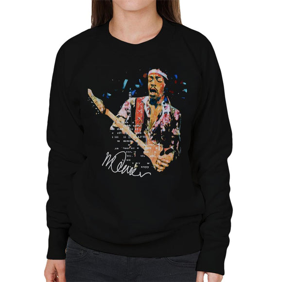 Sidney Maurer Original Portrait Of Guitarist Jimi Hendrix Women's Sweatshirt